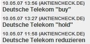 Analystenmeinungen zur Telekom