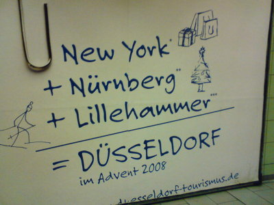 Düsseldorf wirbt in Köln