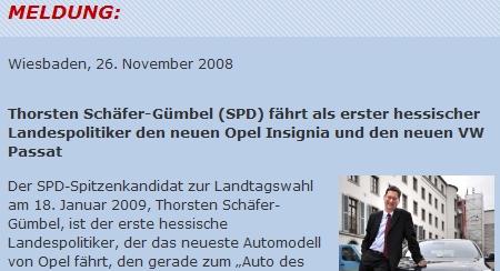 Schäfer-Gümbel fährt 2 Autos